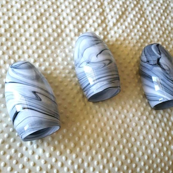 Set of 3 mini pendant light shades